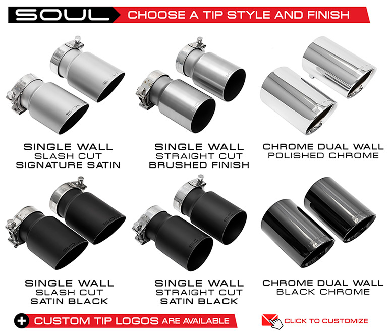 Soul PP Exhaust Tip options