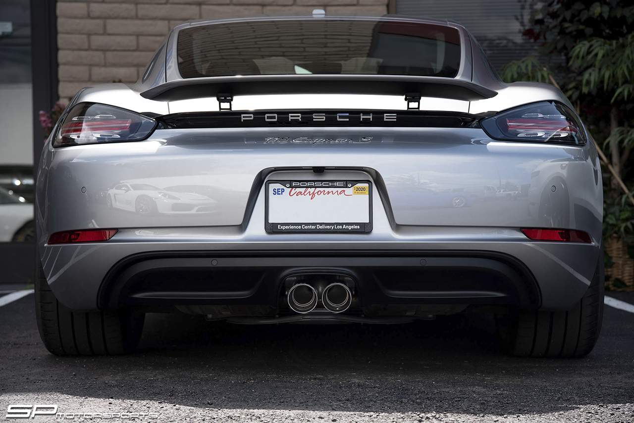 Porsche 718 Boxster Cayman Bolt On X Pipe With Tips Soul Performance Productssoul Performance Products